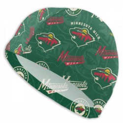 Durable Minnesota Wild swim cap #736651 Women Men Adults , Easy to Put On and Off