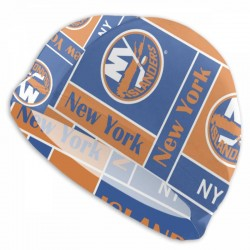 Durable NHL New York Islanders swim cap #736369 Women Men Adults , Easy to Put On and Off